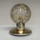 Brass and glass table lamp by Doria – Germany 1970s