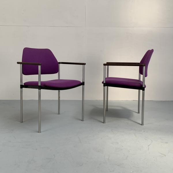 Set/2 rare armchairs by Kembo – Netherlands 1960s